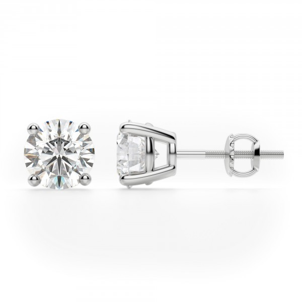 ef1f74513 Earrings | Classic/Stud | Round Cut Stud Earrings, Screw Back ...