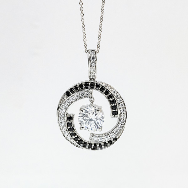 7e8f44a57 Discontinued Storm Necklace with 2.04 carat Round Brilliant Center ...