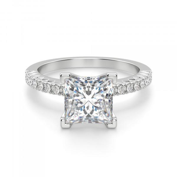 17929c69f43 Angelix Princess Cut Engagement Ring