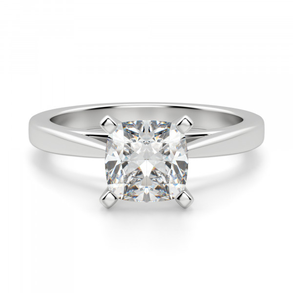 af00986ccb6f5 Cathedral Cushion Cut Solitaire Engagement Ring