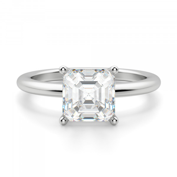 19e45cea3214de Basket Set 1.96 carat Asscher cut Classic Engagement Ring