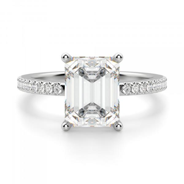 579bea362526ec Basket Set 2.62 carat Emerald cut Accented Engagement Ring