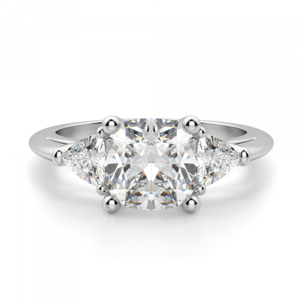 Timeless Cushion Cut Engagement Ring
