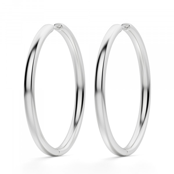 2f3964b51ce0c0 Classic Hoop Earrings, Sterling Silver