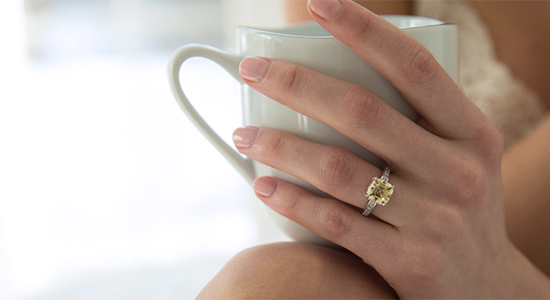 Canary stone ring