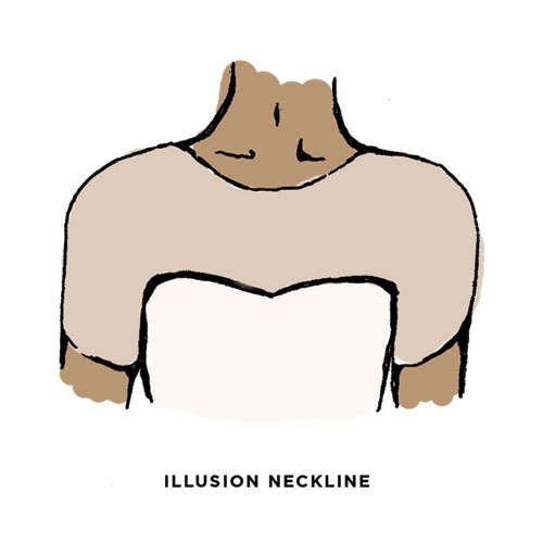 Illusion Neckline