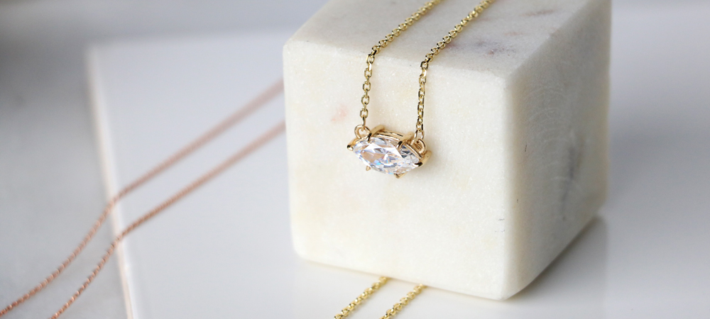 East-West Necklaces: Marquise