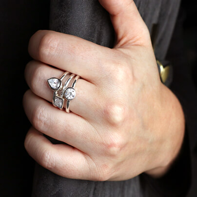 Three Ways to Wear Bezel Rings