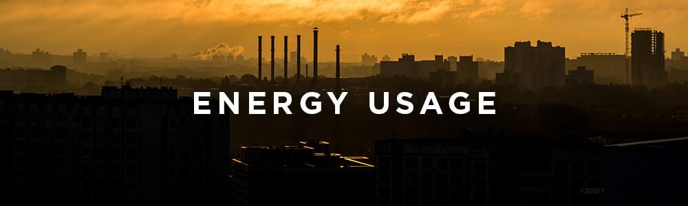Environmental Impact, Energy Usage