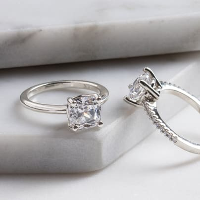 New! Basket Set Engagement Rings