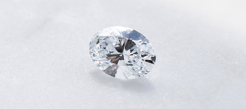 A loose Round Brilliant cut Nexus Diamond™ alternative.