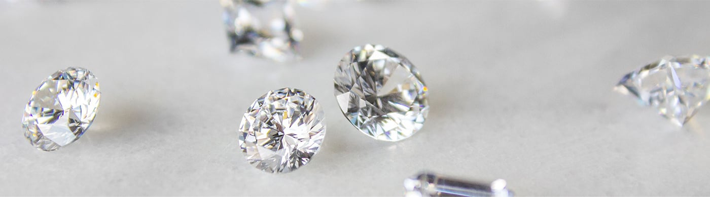 Multiple loose Nexus Diamond alternative stones