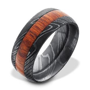 Damascus Steel Men's Rings