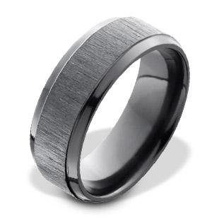Black Zirconium Men's Ring